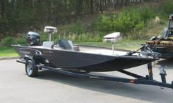 VERY UNUSUAL PACKAGE!! 19 1/2 FOOT ALUMINUM BOAT WITH A 150 HP EVINRUDE OUTBOARD, AND A POLISHED STAINLESS STEEL PROP. THIS ONE WILL SCOOT! THE BOAT IS IN AVERAGE CONDITION. THE CARPET NEEDS SOME ATTENTION, BUT OVERALL IN GOOD SHAPE. THE VINYL SEATS ARE