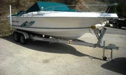 Are you ready to buy a late model 23? bow-rider sport fishing or ski boat with custom trailer a Mercury Saltwater 200 EFI outboard engine with only 50 hours usage, bimini top, full canvas, fresh water system with shower, self contained head, premium sound