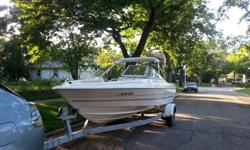 2002 19' Capri 1950 BaylinerVery clean boat, low hours, with trailer. This engine has a sealed cooling system, antifreeze just like your car making it a breeze for winterizing. Includes:Bimini coverNew battery last fallNew boat cover this yearNew prop