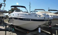 Wow!!! This 2002 Chaparral 25 foot 242 Sunesta deck boat is in fantastic condition inside and out and loaded to the GILLS with cool options. It comes with a huge bimini top, walk through transom, giant open bow with built in cooler and huge ski locker,