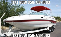This boat is outfitted with a 375 Horsepower Volvo Penta 8.1L Gi motor with a Volvo Penta Duoprop Drive Featuring a Duoprop set-up with twin stainless steel props. This boat shows only 132 hours of total use. This boat has been through a detailed service