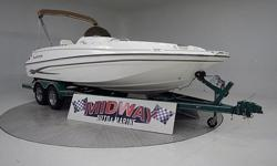 21' Deck boat! Deck boats are getting very popular. Lots of seating and space to move around. Great for the larger family. Comes with warranty, Ask about free delivery.We have the largest selection of very clean used Boats in the Northwest! Check our web