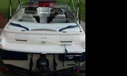 This is a 2002 Glastron GX185 with 209 fresh water hours, 4.3 mercruiser I/O with a stainless 3 blade prop. The boat has a cd player, speakers, 10 inch subwoofer, Dual batteries, bimi top, anchor, life jackets, 4 person tube, 2 person tube, ropes, safety