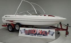 Great starter boat for under $15,000. This boat has a new engine with the power for tons of fun behind the boat. This boat is equipped with the famous VEC hull for the very best ride on the water. Don't let this one slip by!We have the largest selection