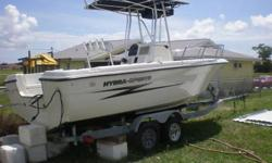 2002 Hydra sport 212 CC .The only thing the boat needs is a motor !!!!--BOAT:NEW custom T-TOP .NEW custom leading post .All new premium cushions .New SONY CDX radio with Sony speakers (CD player, AM/FM radio, ready for iPods or MP3).New splash cover for