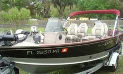 Original owner, only used in fresh water, this boat was ordered with the 90 hp Suzuki, the Load Rite galvanized roller trailer, spare, LED lights, boat has dual live wells, extra rod holders were added, trolling motor is a minn kota power drive co-pilot