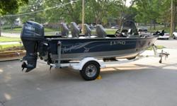 * This boat is single owner, non-smoking, has had very little use, garaged year round, well maintained, very clean, no carpet stains, minimal normal dock scuffs & scratches, winterized yearly. * Boat ? 2002 Lund 1700 Angler SS, Blue and Gray, IPS