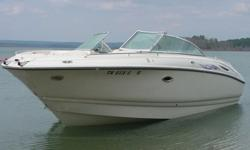 """,.,.,2002 Monterey 248 LS Montura with Optional 330 H.P. Mercruiser Bravo 3 (Dual Props) Inboard/Outboard. The boat is equipped with the """"Captain Call """"Exhaust Option. With this option one can select quiet running by exhausting through the prop hubs and"""