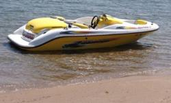 2002 Seadoo Sportster LT in PRISTINE condition with very low hours!! This is a 15 ft. long 5 passenger jet boat that comes with the very reliable twin Rotax engines producing 170hp. It's the perfect boat for taking friends and family out on the water to