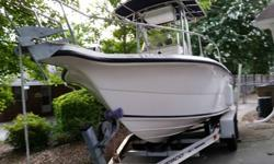 I have a 21 foot sea fox center console T Top for sale. It is white, with 2 bilge pumps that was installed last year, raw water was down, 2 batteries, cb, radio with cd player, electric compass, custom made curtains for the t top, windless anchor wrench,
