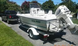 Sea Pro 18.5 foot center console. As the original owner, I waxed this boat 2 times a year. It is flawless in looks and performance. Never had a problem. Comes with wash down, water separator for fuel, new trailer tires, strap, lights, rims, Hummingbird