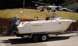 Boat has a leaking gas tank which resulted in a fire on the boat hardly any damage to boat as fire was put out quickly.The motor was never harmed and has only 424 hours on it.Boat comes with a Lowrance fishfinder/gps,marine radio,(neither of them was in