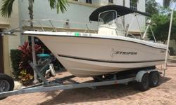 ,.,.,2002 Seaswirl 2001CC Striper Center Console has no soft spots, Engine runs great, Minor wear and tear, before bidding for inspection. 2004 Performance dual axle Trailer comes with clear title and registration. Anchor Locker with AnchorBow StorageSS