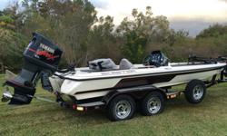 2002 Skeeter 20ft 2inch ZX 225 bass boat, 2002 Yamaha Outboard 225HP 3.1L VMax EFI OX66 V6 (3130cc), 2-stroke with less than 400 hours on it. 27 Pitch Stainless steel prop. Sea star hydraulic steering. 101 Minn Kota Maxxum trolling motor with. Lowrance