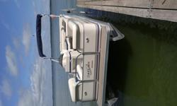 2002 Starcraft Saturn 200 Pontoon (20 foot). Well cared-for and maintained! Located in Stoughton, WI. NO TRAILER. PICK-UP ONLY.Boat capacity: 10 personsBoat weight: 1720 pounds50 HP Mercury motor, 2 stroke ELPTOPontoon purchased 2 years ago in Wisconsin