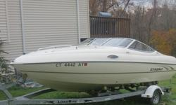 This vessel is a 20' cuddy cabin fresh water used only.4.3 Liter 190 Horse Power Volvo Penta Drive. Stainless steel prop.Brand new, never used custom canvas.Kenwood AM/FM/CD playerVHFGPS.Porta pottySink (never used)Butane stove (never used)Interior in