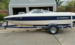 Great family or starter boat in good condition. Lightly used and LOW hours for its age. Comes with trailer a water ready boat.-129.4 hours- Fish finder & accessories included- Single axle trailer- 4.3 Volvo Penta motor- 19 foot hull length- Inboard/