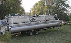 You are looking at a 2002 Sylvan Elite 24 ft Pontoon,This is an exceptional pontoon boat and will offer years of family fun on the water. This is the Sport model that comes well equipped for fishing and all around Fun, The boat includes the following