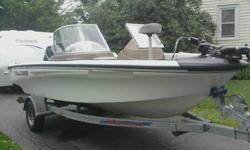 2002 Tracker Tundra 18ft with walk thru windshield. Boat has a 115 horse 2 stroke Tracker motor made by Mercury. There is a 70lb thrust Motorguide bowmount out front. Motor has been serviced by local dealer and everything checked out great. All equipment