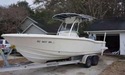 New on the Market! This 2003 23' Scout 235 Sportfish is the ultimate center console vessel. Great for fishing, cruising and heading offshore. Powered with the preferred F225 Yamaha. Tandem torsion axle aluminum trailer. Rigged To FISH! Livewell, Bait and