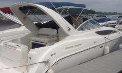 Stock Number: 712878. Boat has been well maintained and Marina kept. All maintenance records are available upon request. Great family boat for weekends on the water and entertaining friends. Versatile seating areas and great storage, berths in 2 cabins.