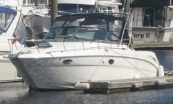 Type of Boat: Power BoatYear: 2003Make: SearayModel: 290 AmberjackLength: 31Hours: 600Fuel Capacity: 230Fuel Type: GasEngine Model: Twin Mercruisers 5.7L - 300 HorizonsSleeps how many: 6Number of A/C Units: 1Max Speed (Boat): 35Cruising Speed (Boat):