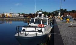 2003 Breaux Brothers 34' 600HP diesel multi-Use double hulled aluminum vessel with A-frame powered by 2 10 ton hydraulic rams. Was designed for an Alaskan survey project, and can be put to use for other purposes. Fishing, mooring recovery, oil spill