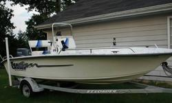 I put a new 90 hp. Yamaha 2 stroke direct injection motor with new controls, digital gauges, power tilt and trim. The engine has only 14 hours on it still with factory warranty. Boat has windshield, Nav. Lights, Eagle Sonar, 8 rod holders, aerated live