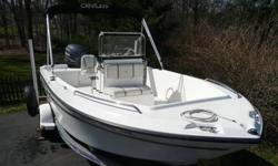 2003 Century Boat (by Yamaha) with 115HP electronic fuel injection 4 stroke (no oil gas mixture) Yamaha engine. This is probably one of the best packages on ebay for the fisherman or just someone that wants to cruise or pull the kids on a water tube. This