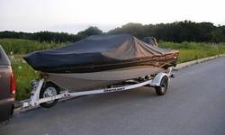 "2003 Crestliner 1650 FishHawk.60 H.P. Mercury ELPT 4 Stroke Outboard ( 2003 ).Shorelandr' Trailer.Boat Includes NEW spare prop. "" Hustler "" (aluminum) , two wearable PFD's , throwable PFD , running lights, Humminbird 363 chart plotter fishfinder / GPS ,"