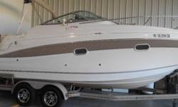 I'll respond ONLY through phone so please leave me your number. Thanks!2003 248 Vista- very low hours 100TT-brand new A/C and heat-New 1800 watt Xantrex Freedom inverter with remote-Maxwell windlass anchor-full canvas cover-cockpit carpet-aft fill-In