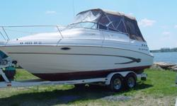 ",,,,,,,,,,2003 Glastron GS 249 Length: 24'10""Horsepower: 260 with Volvo I/O gasoline engine w/minimal hoursStandard Features:Aft Cabin, Dinette/V-berth Remote spotlight, Digital dept sounder, Cabin lights, Bow pulpit with roller and rope locker, Clarion"