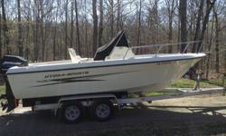-2003 Hydra Sport 212 Center Console with Mercury 150 and aluminum tandem trailer. Low hours, kept indoors out of the weather. New Lowrance color fish finder with GPS. VHF radio, dual batteries (new) with switch. Full gauge package, fish boxes, cooler,