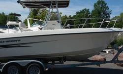 THIS IS A GREAT OFFSHORE FISHING MACHINE EQUIPTED WITH THE BULLETPROOF 225 YAMAHA 4 STROKE. THE MOTOR RUNS GREAT AND IS SUPER RELIABLE. BOAT CRUISES AT 30 MPH AND HAS A TOP SPEED OF 45 MPH. THE BOAT IS EQUIPTED WITH A T-TOP, ROCKET LAUNCHERS, LIVEWELL,