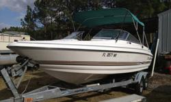 *NICE LARGE OPEN BOWRIDER*W/V-8- VOLVO INBOARD/OUTBOARD .*COMES WITH A TRAVEL STRAP DOWN COVER AND A SNAP DOWN COVER,* BIMINI TOP*TONS OF STORAGE.*TANDEM AXLE GALVANIZED TRAILER.PLEASE TAKE A LOOK AT ALL OF THE PICTURES ON MY