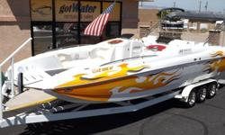 http://www.gotwatermarine.com/Consignment_2003_Magic_Deck_Boat_28.htmlReady to Fly Though the Air? This Magic Deck Boats unique hull design, meticulous rigging and perfectly located center of gravity maintains stability for quick planing, breathtaking