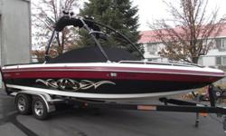 This 2003 Malibu Wakesetter 23LSV is looking for a new home. Nicely loaded with all the core features for a great day/week on the water. Titan tower, tower speakers, tower lights, tower mirror, bimini, ballast, cruise control, heater, shower, storage