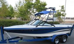 .,,//2003 MB Sports 20ft Ski/wakeboarding boat in good working condition! This boat has an PCM 5.0 lt motor with 910 hours (compression is 180/185 in all cylinders), bimini, whole boat cover, shower, depth finder, two tower speakers, amplifier and cd
