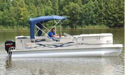 You are viewing a SUPER MINT 2003 Misty Harbour 2285 MS Cruise edition pontoon boat. This one owner boat is in excellent condition and shows to have been very well maintained. Boat has always been kept under covered storage. If you have any questions,