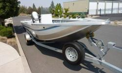 This 2003 Northwest Jet Freedom Series is in excellent condition. It is 19 feet long and 21 feet long overall. It is powered by a Honda 130 and a Honda 20 Motors and is equipped with a Lowrance Fish Finder and a Stereo with CD. We even have the original
