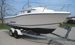 2003 Palm Beach Whitecap Walk Around 22ft sport fisherman with cuddy,head,stove,bimini,enclosure and Yamaha V6 150 HP outboard. This very nice Palm Beach comes to us as a recent repo. The hull is very clean and solid. The bottom has fresh anti fouling