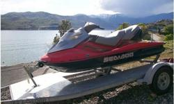 2003 Sea Doo GTX 4-TEC Supercharged, Well-taken care of, 3-person Seadoo with low hours and new propeller. Annual maintenance done. No problem pulling a skier, wakeboarder or tube!Includes an EZ Loader tandem trailer CUSTOMIZED with aluminum side boards