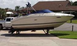2003 Sea Ray 225 Weekender w/ 5.0 L MPI Mercruiser & trailer. Boat has 618 hours and is in good condition as it has been kept at Lighthouse Marina in drystack. Boat comes with carry on A/C, dual batteries, new stereo, camper enclosure, new VHF radio,depth