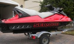 YOU ARE LOOKING AT A 2003 SEADOO GTX IN PERFECT CONDITION WITH ONLY 112 HOURS ITS A SUPERCHAGED 185 HP ITS DOES 65 MILES PER HOUR ON GPS THIS IS A BEAST IN THE WATER. AS YOU CAN SEE THERE NOTHING WRONG WITH SKI YOU WILL NOT FIND A NICER ONE THEN THIS ONE.
