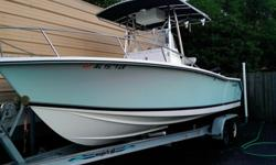 2003 seastrike 24 cc with 250 mercury efi 2 stroke. great riding boat. well maintained. just been serviced and water ready. t-top, leaning post, two live wells, fresh and saltwater wash down, shower, sink, custom boat cover, porta potti, lenco trim tabs,