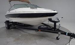 This is a sweet little runabout! Very low use on this boat and only a few cosmetic scuffs/scratches. Runs perfect! Interior is in great condition! Comes with warranty!We have the largest selection of very clean used Boats in the Northwest! Check our web