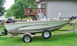 It's been stored every winter and has limited hours on the motor. The boat itself is fantastic. We've used the boat exclusively for fishing, but the boat could easily be used for water skiing or tubing. It does come with rod holders and if you're a