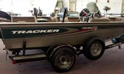 The boat is in exceptional shape for its age and very clean! Package is complete with Mercury 50 hp 2-stroke and Trailstar trailer. Package also includes 4 rod holders, ship to shore, Humminbird XP2000, Minn Kota Power Drive 40lb thrust trolling motor,