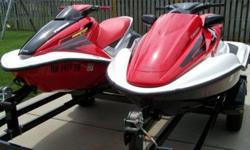 2004 - 2006 Honda Turbo Aquatrax PWC Jet Ski package with new Yacht Club double trailer. The 2004 is a ARX1200T2 (R-12X) Turbo that has very low hours at 22 and the 2006 Honda Aquatrax Turbo ARX1200T36 (F-12X) 3 seater is brand new bought May 7, 2009 and