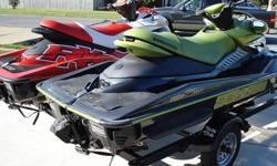 2004 & 2007 Seadoo RXP's with double Trailer. 2007 Seadoo RXP, excellent condition with 33 hrs. Red and white, runs great. 2 seater.2004 Seadoo RXP Supercharged 215 hp. 70 + mph. good condition with 49 hrs. Black and green 2 seater. 2004 yaght club